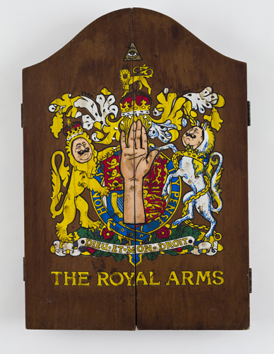The Royal Arms detail