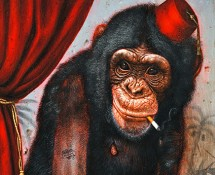 Chimp unframed detail