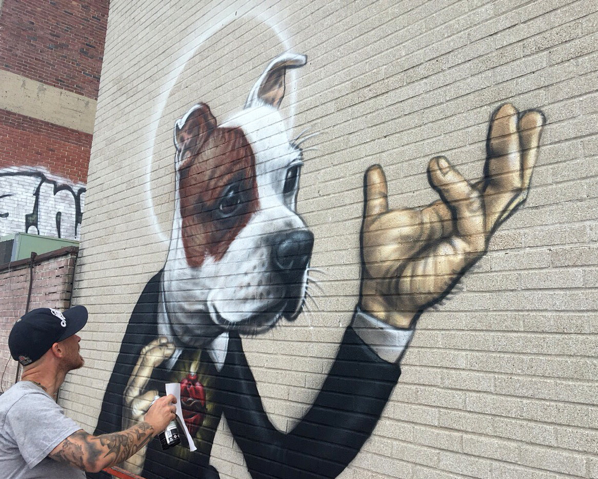 Close up End BSL mural